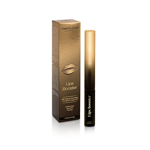 0ff183d2bdd Simon & Tom Lips Booster - Hydrating, Anti Aging Lip Plumping Lip Gloss  with Natural