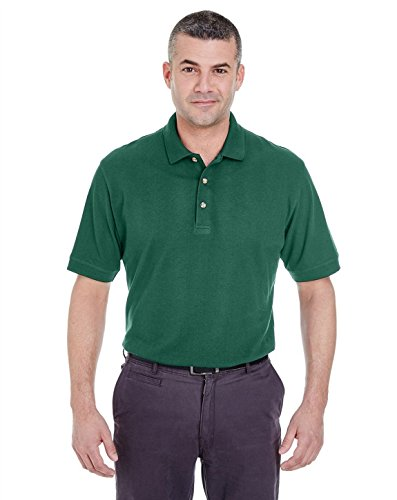 UltraClub 8535 Mens Classic Pique Polo Forest Green ()