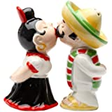 LatinosMagnetic Ceremic Salt and Pepper Shakers