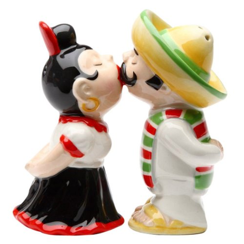 LatinosMagnetic Ceremic Salt and Pepper Shakers Pacific Trading Company CECOMINHK10851