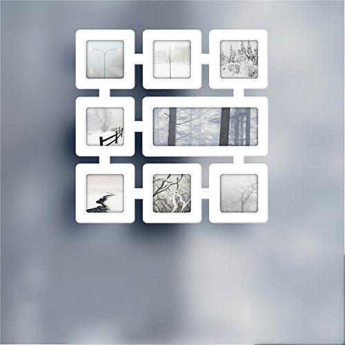 Marco de fotos europeo Hagoromo celosía madera combinación foto muro pared combinación foto estudio creatividad de los...
