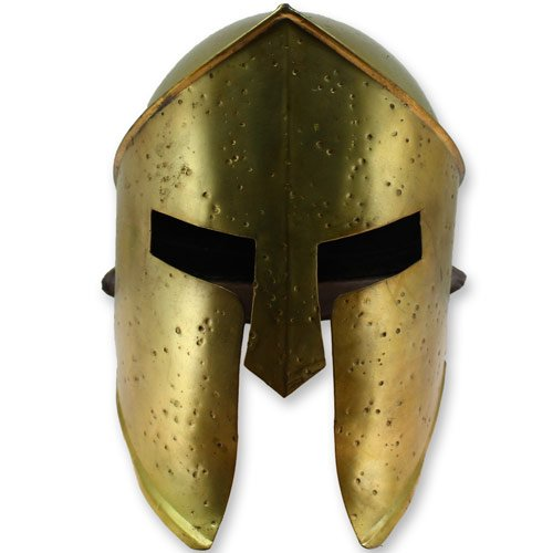 king-leonidas-300-spartan-helmet-armor-functional-steel-brazen-brass-finish