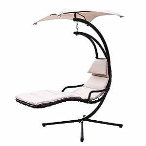 Generic ....r Porc Swing Hammock hair Can Chair Canopy Color:Random Porch Sw Chaise Lounger Chair Air Porch S NEW Hanging se Arc Stand Air Porch ng Chaise Lou