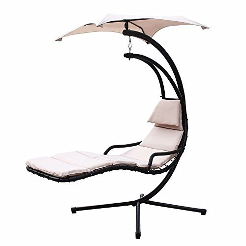 Generic .. e Lounger C NEW Hanging anging Arc Stand Air Porch Cha Swing Hammock ir Porch Chaise Lounger Chair moc Chair Canopy Color:Random Canopy ..