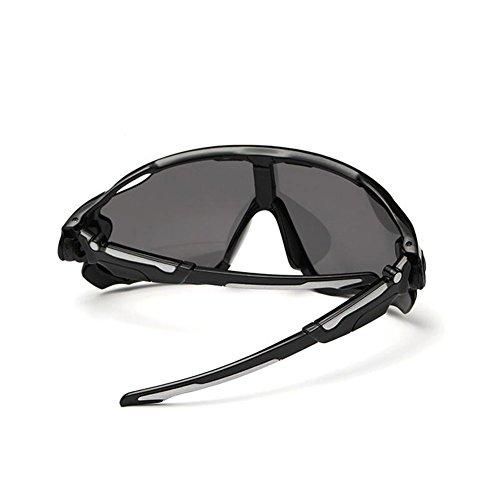 KRY - Lunettes de soleil sportives UV400pour homme, adaptées à la conduite, au golf, à la pêche, monture incassable en métal 2