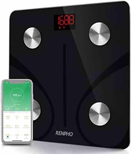 RENPHO Bluetooth Body Fat Scale Smart BMI Scale Digital Bathroom Wireless Weight Scale, Body Composition Analyzer with Smartphone App 396lbs - Black