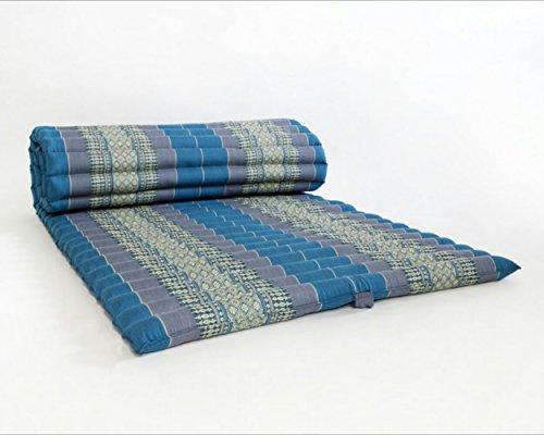 Roll up Thai Mattress, 100% Kapok, (Premium Grade) (Blue, 69x30x2 inch) by KiangDin Product