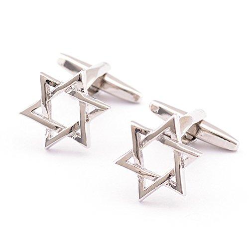 Covink Star of David Pair Cufflinks Religous Symbol of Modern Jewish Ornament Kabbalistic Holocaust Use
