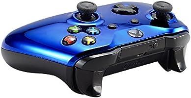 eXtremeRate Carcasa para Xbox One S X Funda Delantera Protectora de la Placa Frontal Cubierta de reemplazo para Mando del Xbox One S y Xbox One X (Model 1708) Azul Cromado: Amazon.es: