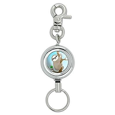 Sloth Just Hanging Around Lanyard Belt Id Badge Key Retractable Reel Holder - Made On Terra