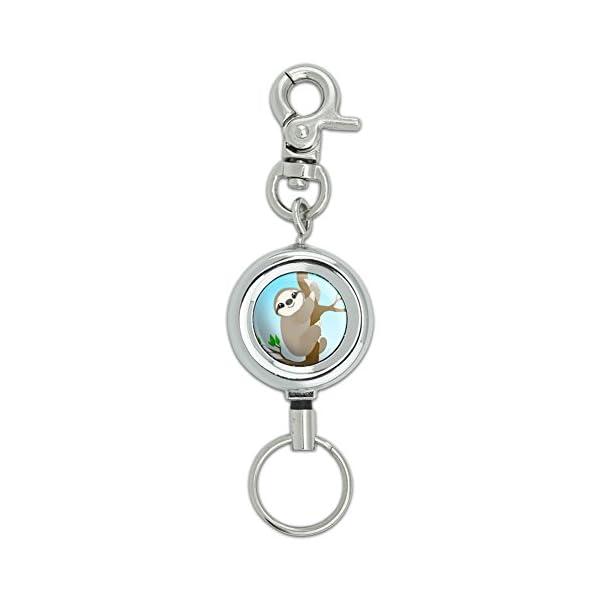 Sloth Just Hanging Around Lanyard Belt Id Badge Key Retractable Reel Holder -