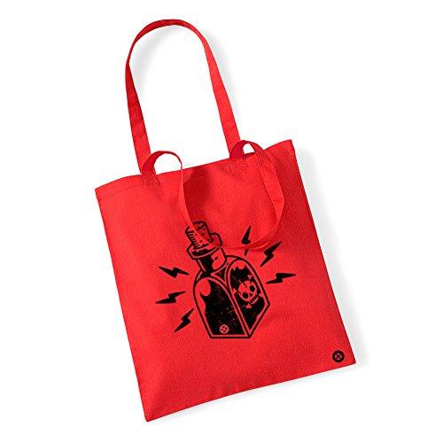 De Tattoo Bolsa Largas Asas Poison Rojo qwCx4d