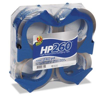 o Henkel Consumer Adhesives o - Packing Tape,w/ Reusable Dispenser,1-7/8''x60 yds.,4/PK,Clear