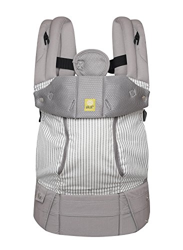 LÍLLÉbaby The Complete All Seasons SIX-Position 360 Ergonomic Baby & Child Carrier, Silver Lining - Cotton Baby...