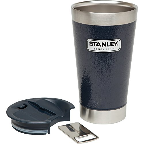 Stanley old classic hoover Pint 16oz Hammertone Navy Thermoses