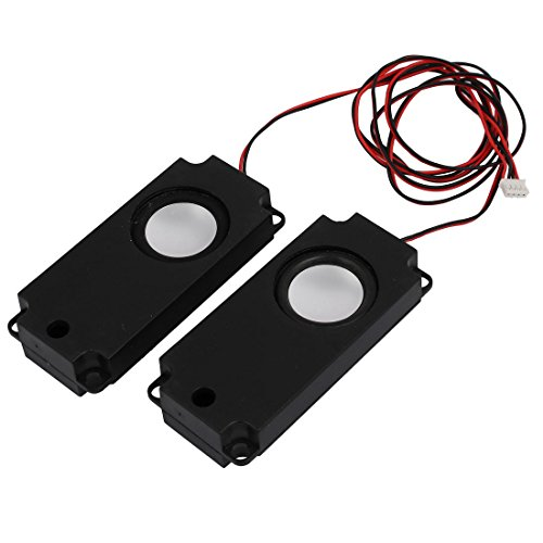uxcell Pair 4 Ohm 3W Plastic Shell 67cm Wire Internal Magnetic Loudspeaker for TV LCD Monitor by uxcell