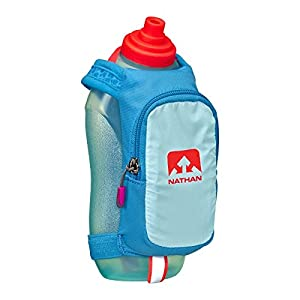 Nathan SpeedDraw Plus Water Bottle - 18oz Blue Danube/Diva Pink, One Size