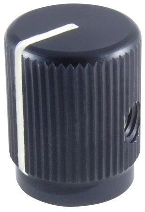 NTE Electronics 505-0005 Series 500 Aluminum Vernier Numeric Display Counting Dial with Brake Lever, 1 No of Turns, 1'' Diameter, 1/4'' Shaft Diameter, Black