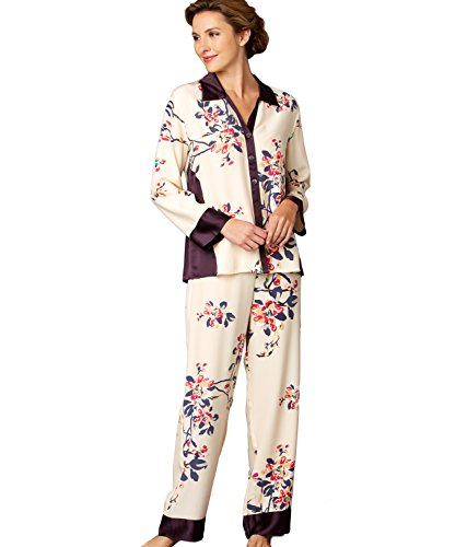 - Julianna Rae Jewel Garden Women's 100% Silk Pajama, Sonnet, XXL