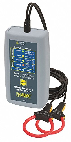 AC Current Logger,1000AAC,Integral Probe by AEMC Instruments