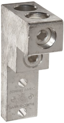 Rated Interconnect (Morris Products 90914 Mechanical Panelboard Lug, Two Conductors, Aluminum, 600 AWG, 600mcm - 3/0STR. Wire Range)