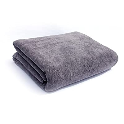 Bath Towels Multi-Purpose Microfiber (32 x 71 Inch) Soft Fast Drying Travel Gym Home Hotel Office Washcloths (Grey) - Larger size: X-Large 32 x 71 Inch. Soft and lightweight: Adding more microfiber materials than regular towels, Softer than cotton towels, and more comfortable. Super absorbent: More absorbent than cotton towel, You can quickly dry your body without repeated scrub. - bathroom-linens, bathroom, bath-towels - 41okFXmVVwL. SS400  -