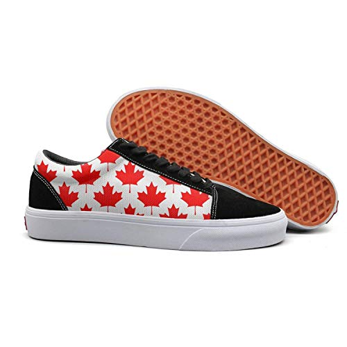 Womens' Mens' Jogging Slip-On Shoes red Canada Maple Leaf Schedule Print 2018 Trainers Unisex Foam -