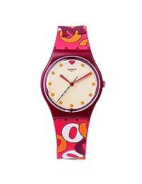 Swatch Men's Intensamente GR171 Red Rubber Swiss Quartz Fashion Watch
