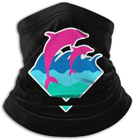 Cute Pink Dolphin ネックガード 日焼け防止 バンダナ 息苦しくない フェイスガード 多機能 マジックスカーフ