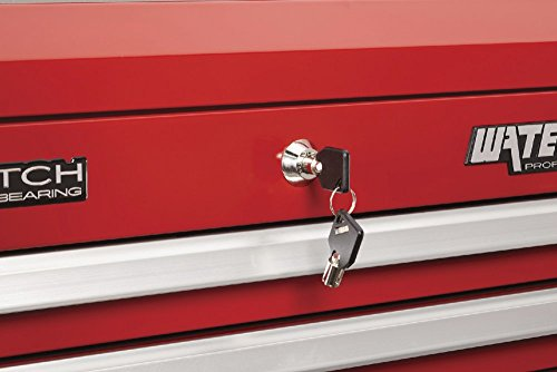 Waterloo Professional Series 5-Drawer Rolling Tool Cabinet with Internal Tubular Keyed Locking System, Red Finish, 26'' W by Waterloo (Image #4)