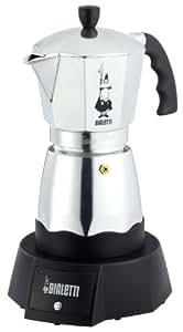 Bialetti Easy Caffetiera 1893C - Cafetera espresso eléctrica para 6 tazas (aluminio)