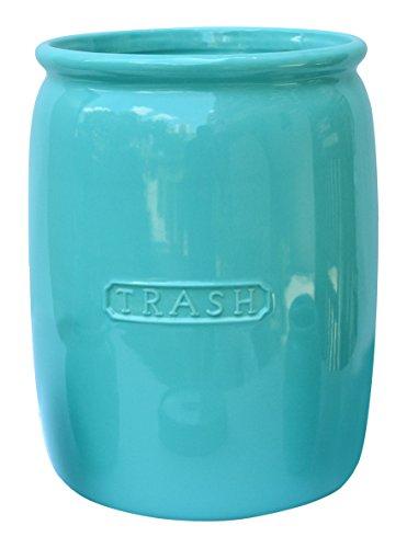 BathSense MJ1002T Ceramic Bathroom Wastebasket & Trash Can Refuse Disposal Bin, Vintage