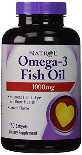 Natrol omega 3 fish oil 1000mg 150 softgels in the uae for Omegavia fish oil