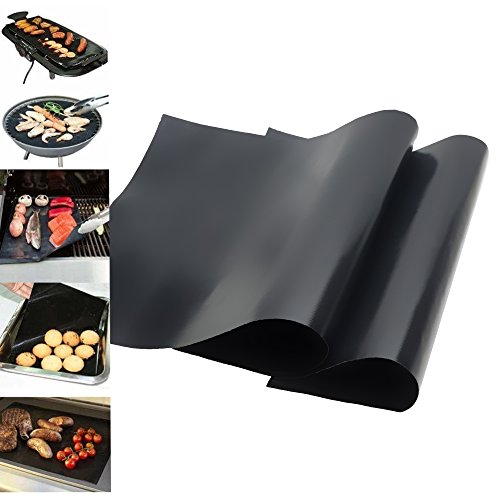 BBQ Grill Mat, Amado Grilling Mat - Thick, Durable, Heat Resistant Grilling Mats for BBQ - Set of 2 Non-stick Grill Mats