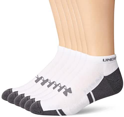 Under Armour Men's Resistor No-Show Socks 6-Pack