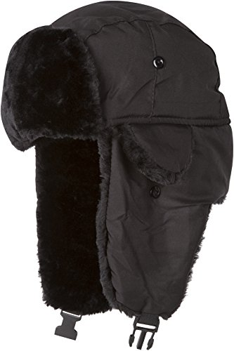 Quilted Trooper Fur Hat - 1
