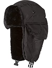 Sakkas Harper Unisex Faux Fur Nylon Trooper Hat