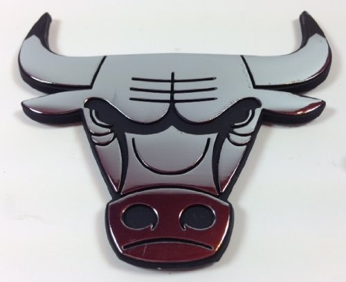 Chicago Poker - NBA Chicago Bulls Metal Emblem, 3