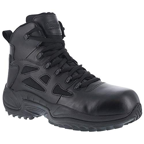 Sport Composite Toe Side Zip - Reebok Work Men's Rapid Response RB8674 Safety Boot,Black,13 W US