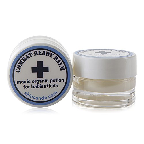 COMBAT READY SKIN CREAM - BALM FOR BABIES - 0.125oz by Skincando - 2 Pack - All Natural - Intensive Moisturizer For Babies - Baby Skin Rash Cream - Organic Ingredients