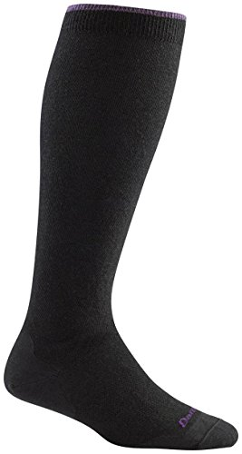 Darn Tough Women's Merino Wool Solid Knee High Light Socks Black Medium