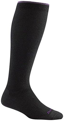 (Darn Tough Women's Merino Wool Solid Knee High Light Socks Black Small)