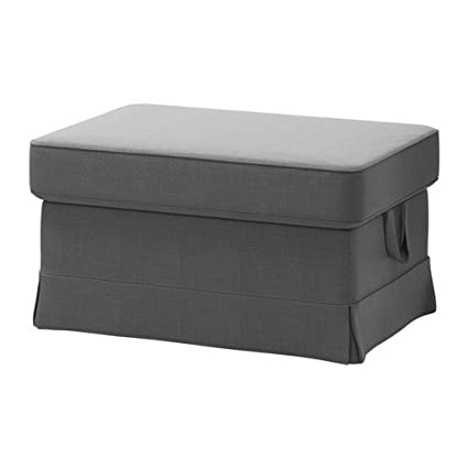 Merveilleux IKEA Cover For Ektorp Ottoman (footstool) Nordvalla Dark Gray (Slipcover  Only)