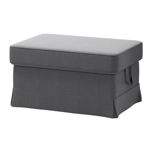 IKEA Cover for Ektorp Ottoman (footstool) Nordvalla Dark Gray (Slipcover Only)
