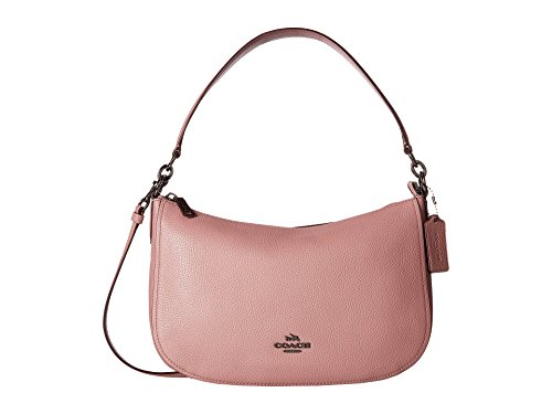 COACH Women's Pebbled Leather Chelsea Crossbody Dk/Dusty Rose One Size (Pink Chelsea)