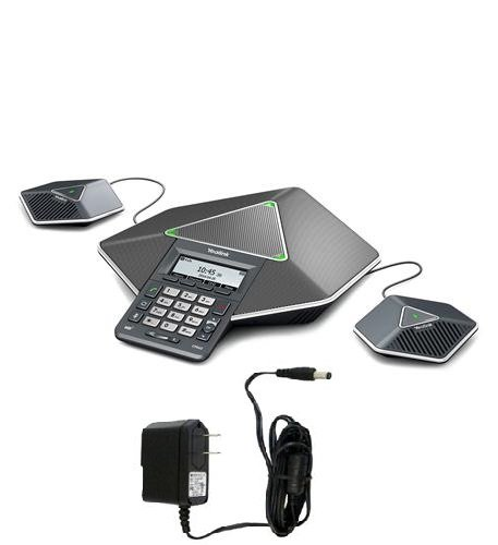 Yealink Diamond IP Conference Phone (YEA-CP860) Bundle with 15618 Power Supply for Yealink 5-volt 2-amp by Yealink