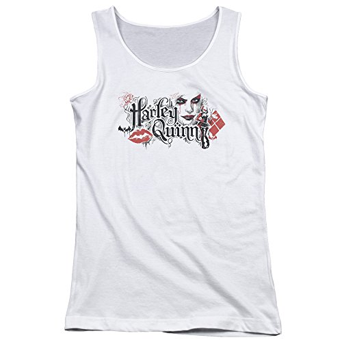 Price comparison product image Batman: Arkham Knight Video Game Harley Quinn Bat Lips Juniors Tank Top Shirt
