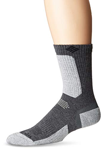 Columbia Men's Hike Crop Crew Sock, Charcoal1, Large