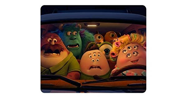 3D Anime Monster University Mike Sulley Sat in the Car Rectangle