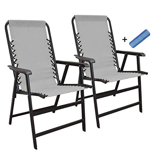 Marketing Folding Canopies - Caravan Sports Suspension Folding Chair Gray (Pack of 2)